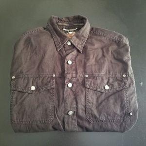 Harley Davidson Long Sleeve Button Front Shirt L
